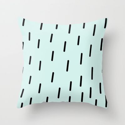 Rain Throw Pillow by One Happy Mess - $20.00