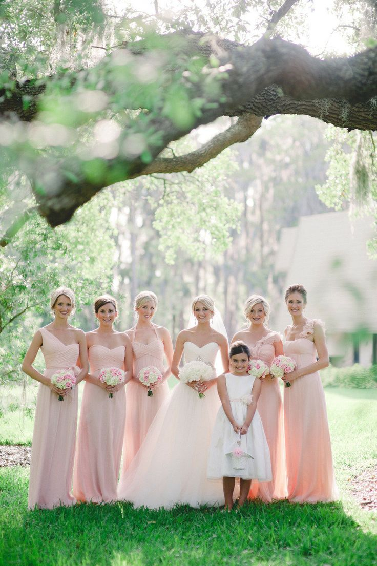 10 best mismatched pink knee length bridesmaids dresses images on palm harbor wedding from divine light photography ombrellifo Images