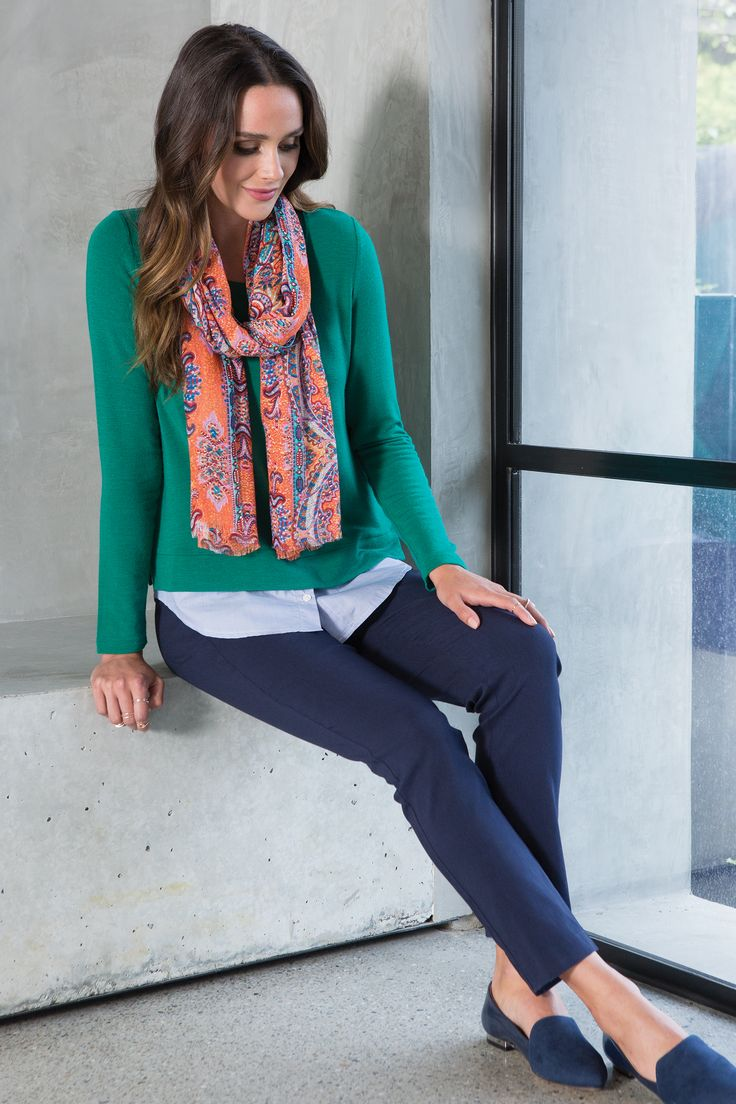 Christo Top, Bowie Scarf, Henna Slim Fit Pants