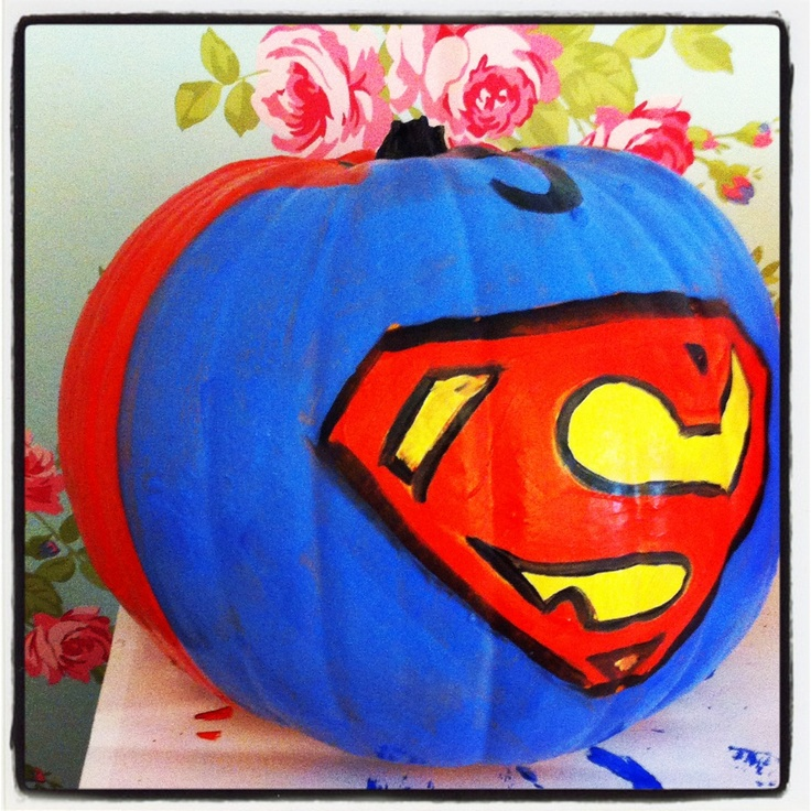 Superman Pumpkin By Daniellerosemakes Halloween Crafts