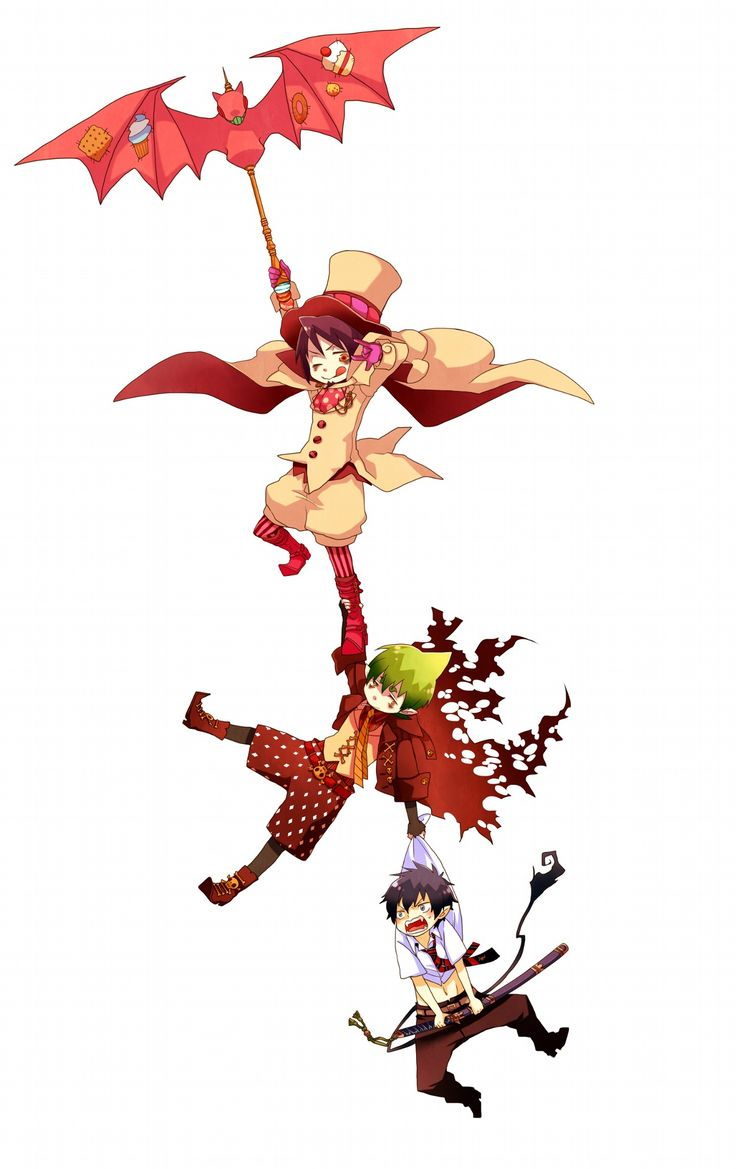 Blue Exorcist........lol poor rin having to deal with mephisto and amaimon's shenanigans...
