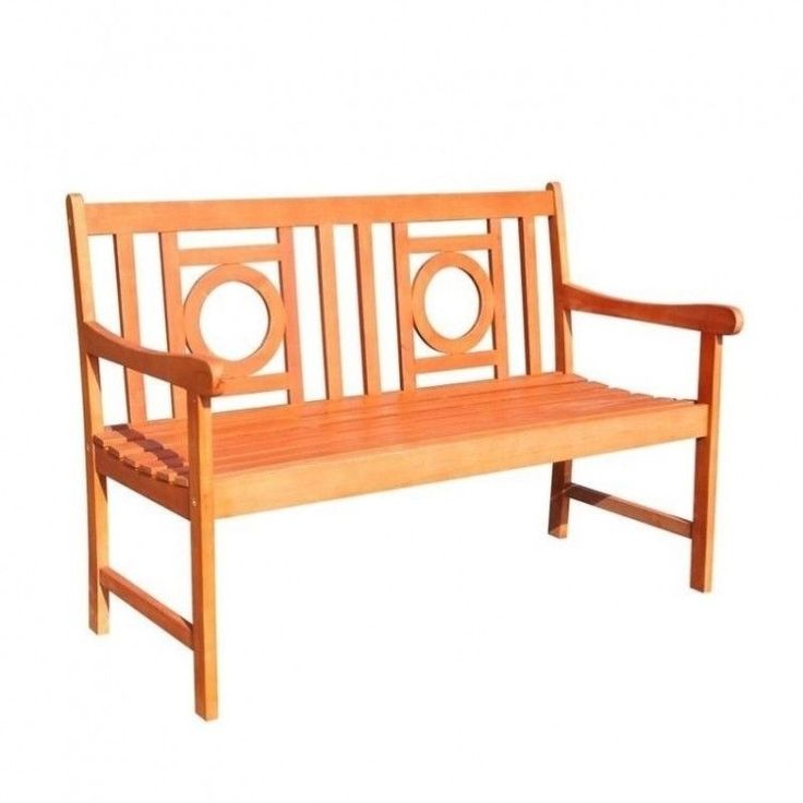 Outdoors Garden Bench 4 Foot Wood Patio Furniture Porch Arms Weather Resistant #OutdoorsGardenBench