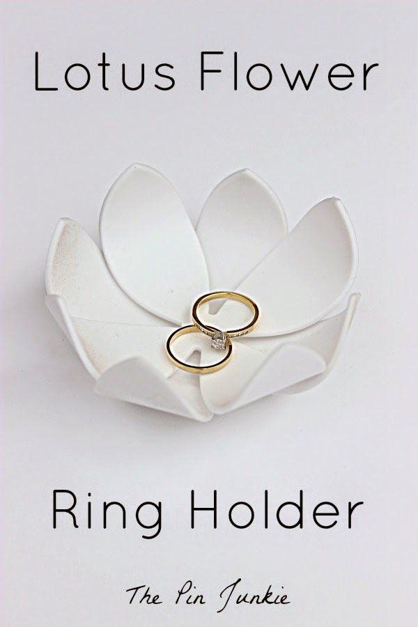 Lotus Flower Ring Holder -  an easy DIY project!