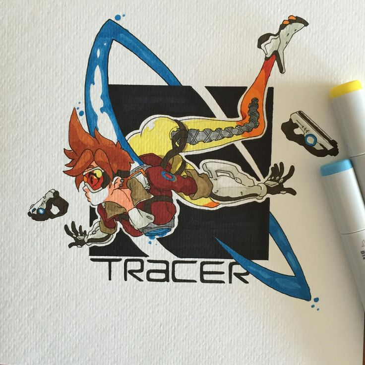 Some Tracer to celebrate Overwatch beta. I won't... - 3D ROD!