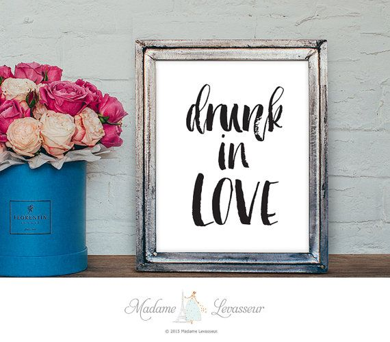 drunk in love printable quotes lyrics quotes Beyonce printable art minimalist art prints inspirational quote instant download printable art