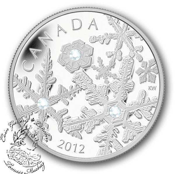 Coin Gallery London Store - Canada: 2012 $20 Crystal Holiday Snowstorm Silver Coin, $114.95