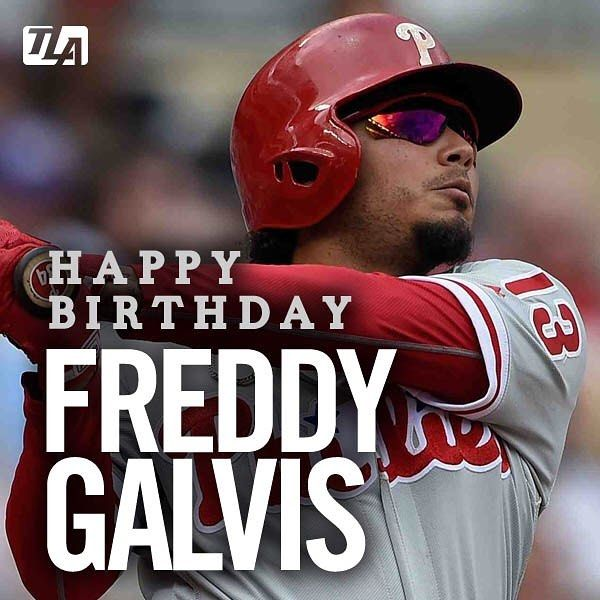 Happy 28th Birthday @freddygalvis13  Have an awesome day! . . . . . . #philly #philadelphia #philadelphiaphillies #mlb #birthday #phillies #birthdaypost #birthdaylove