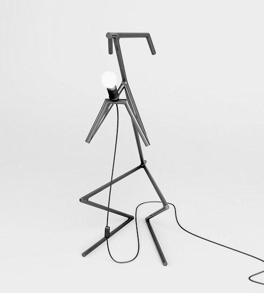 Многофункциональный напольный светильник из серии Animalamps —  минималистских геометрических объектов в форме животных — зайцев, лис и т.д.  Изготовлен из металла и окрашен в монохромный цвет.  Лампа может использоваться как прикроватный светильник для вечернего чтения и как объект для хранения книг, журналов и гаджетов. Креативная форма и оригинальный дизайн позволяет использовать их и как отдельный арт-объект в интерьере.  Материал: Лампы изготовлены из металлического прута диаметром 12…