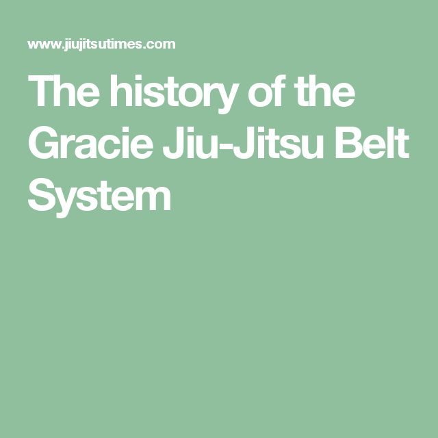 The history of the Gracie Jiu-Jitsu Belt System
