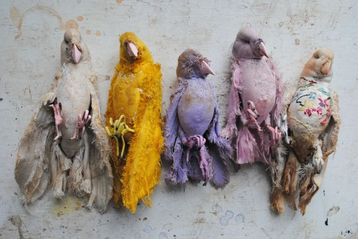 fabric birds by Mister Finch - this guy makes amazing stuff.