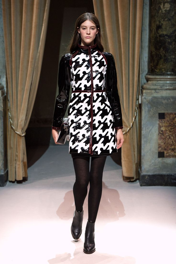 Look 9 from Fay Women's Fall - Winter 2014/15 collection seen on the catwalk.