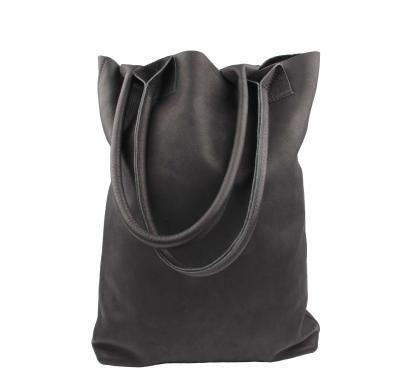 leren shopper tas zwart leer black leather tote | SPRDLX.NL kussens & woonaccessoires