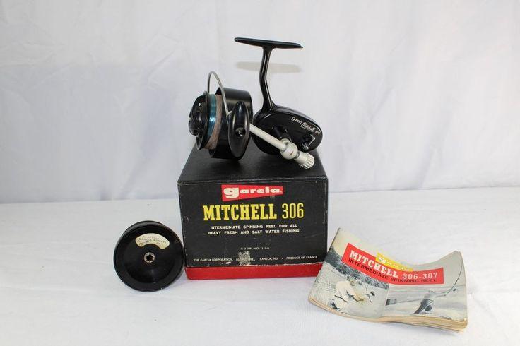 Garcia Mitchell 306 Saltwater/Freshwater Fishing Reel Vintage with Orig. Box | Sporting Goods, Fishing, Vintage | eBay!