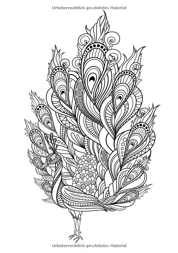 Les 39 meilleures images concernant coloriage paon sur pinterest - Plume de paon dessin ...