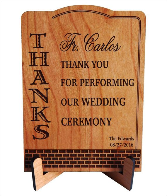 Priest Rev Father Gift On Our Wedding Officiant Solemniser Thank You Custom Celebrant