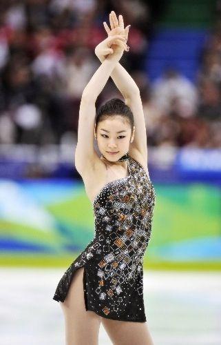 Yuna Kim, Black Figure Skating / Ice Skating dress inspiration for Sk8 Gr8 Designs