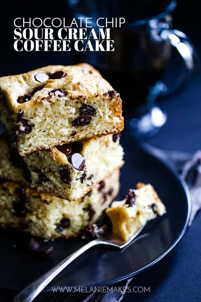 This one bowl Chocolate Chip Sour Cream Coffee Cak…