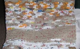 i make recycle grocery bags, crafts, go green, repurposing upcycling, Recycled mats for homeless crochet from grocery bags