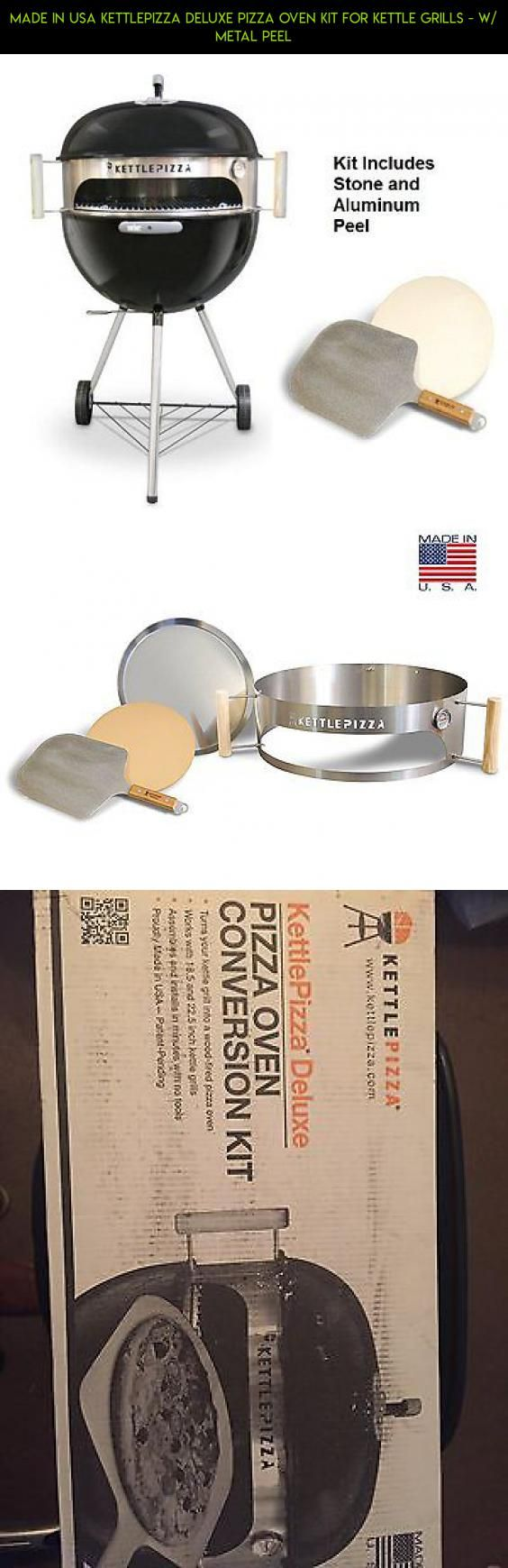 Made in USA KettlePizza Deluxe Pizza Oven Kit for Kettle Grills - w/ Metal peel #drone #racing #tech #fpv #parts #in #kit #usa #shopping #gadgets #technology #products #grills #plans #camera #made