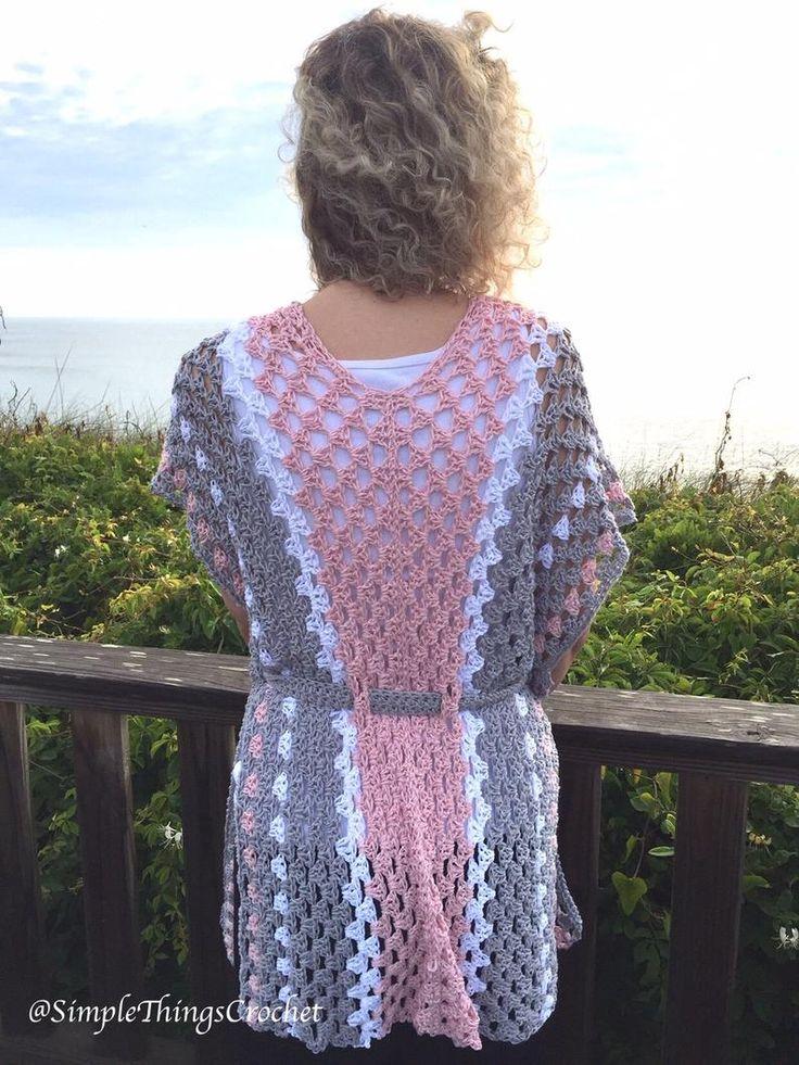 Easy Crochet Vest for Women, Easy Crochet Sweater, Women's Fashion, Chloe Vest, Granny Stitch Vest, Lightweight Women's Vest