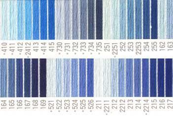 コスモ刺しゅう糸 25番 青色系 ルシアン 国産刺繍糸