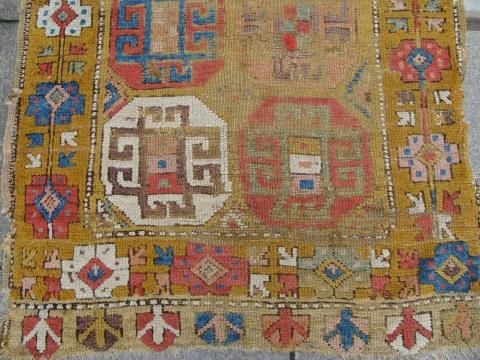 Early 19th century Konya rug. Exhibitor James Cohen. More news about the Antique Rug & Textile Show in San Francisco 2014