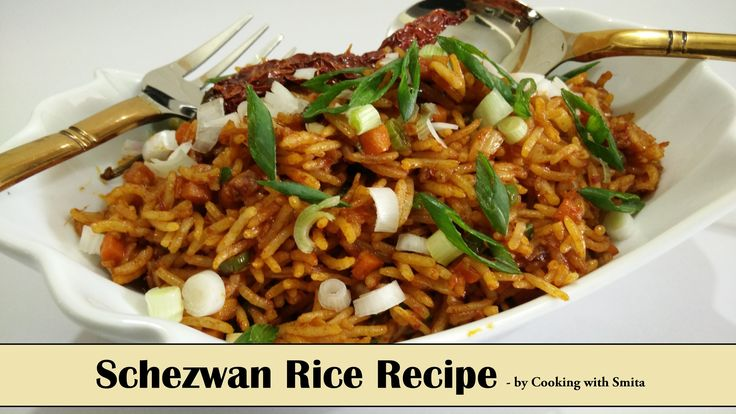 Schezwan Rice Recipe in Hindi by Cooking with Smita - Veg Schezwan Fried...  Veg Schezwan Fried Rice is a Indo Chinese recipe with a mouth-watering blend of spicy flavours that are sure to tease your palate.  Main ingredients of the recipe are Rice and Schezwan Sauce.