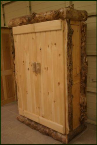 Gun cabinets guns and cabinets on pinterest for Log cabin gunsmithing