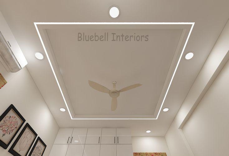 bedroom false ceiling, profile light in ceiling, simple ...