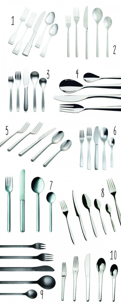 top 10: modern flatware to register for