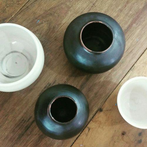 Stoneware vases and small bowls. https://www.instagram.com/wildceramics/