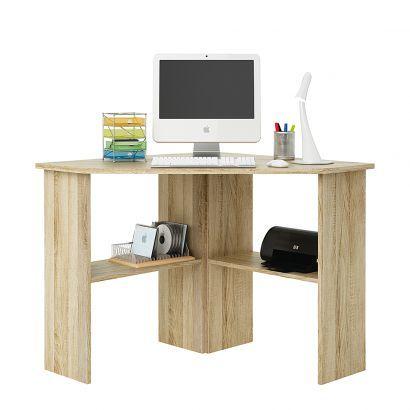 corner desk office. home office computer desk corner unit brushed oak