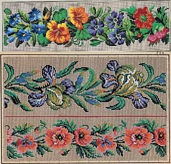 Berlin WoolWork Floral Borders