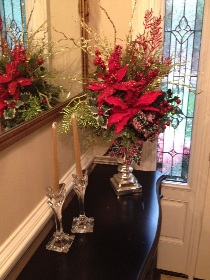 Tall christmas centerpiece arrangement inches