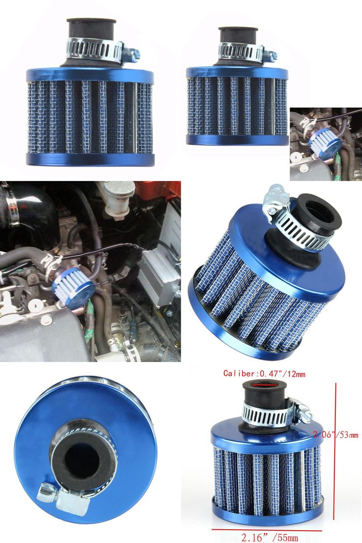 [Visit to Buy] Universal 12mm Blue Mini Car Motor High Flow Cold Air Intake Filter Turbo Vent Crank Auto Filter Cleaner  #Advertisement