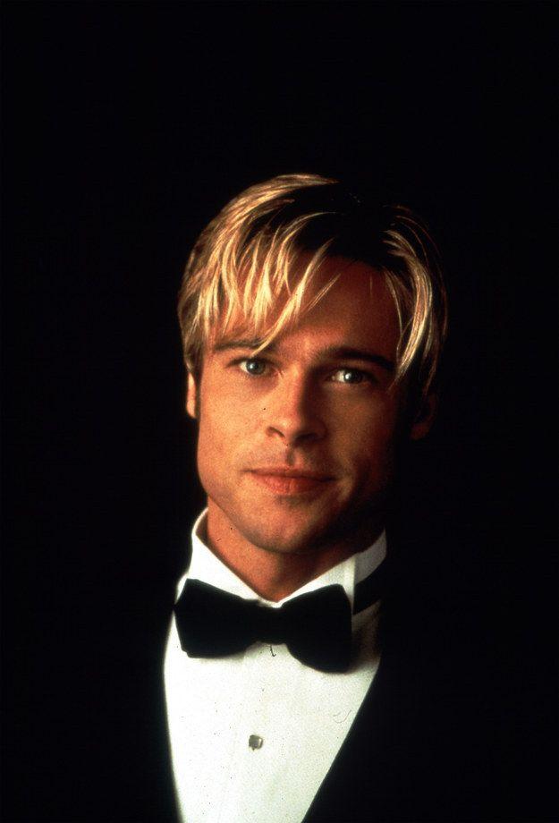 Piecey Platinum   A Comprehensive History Of Brad Pitt's Hair