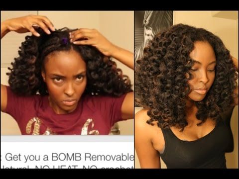 Tutorial:NO crochet braids needed, Get you a BOMB Removable, Super Natur...