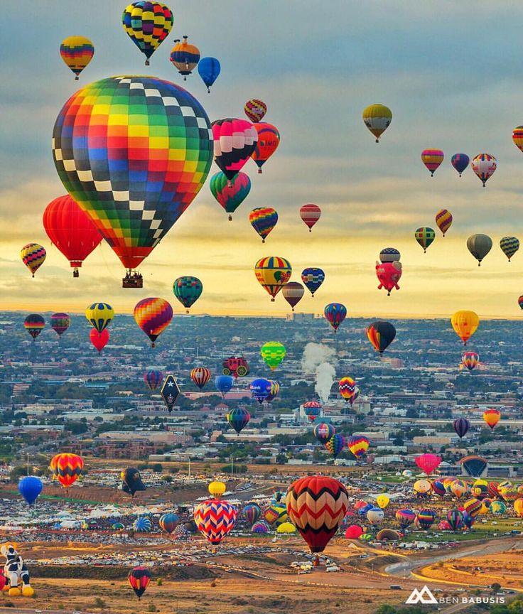 """Albuquerque International Balloon Fiesta - New Mexico ✨❤️✨ Picture by ✨✨@BenBabusis✨✨ Good morning world """