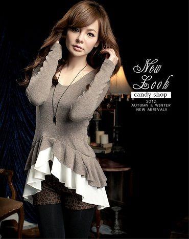 Baju Import Blouse BL1849-Khaki