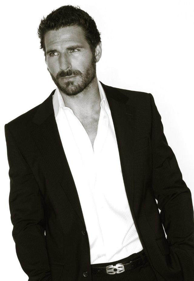 Ed Quinn; tall, dark, and broodingly handsome. I'll take mine to go.