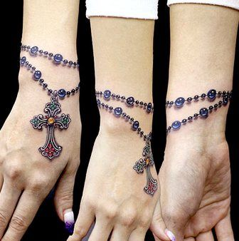 Rosary. That looks so real!  #tattoos
