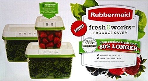Rubbermaid freshworks producir Saver with fresh Ventilacin (3-Pack)