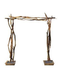 Natural Wood Wedding Arch, Aspen Themed Wedding Ideas, En Pointe Weddings and Events, Dallas Fort Worth Texa