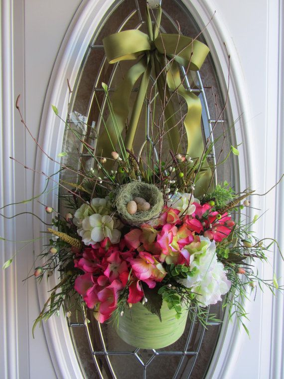 Hydrangea Wreath Spring Wreath Summer by DoorWreathsByDesign
