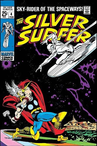 Silver Surfer 4 cover by John Buscema, 1968.