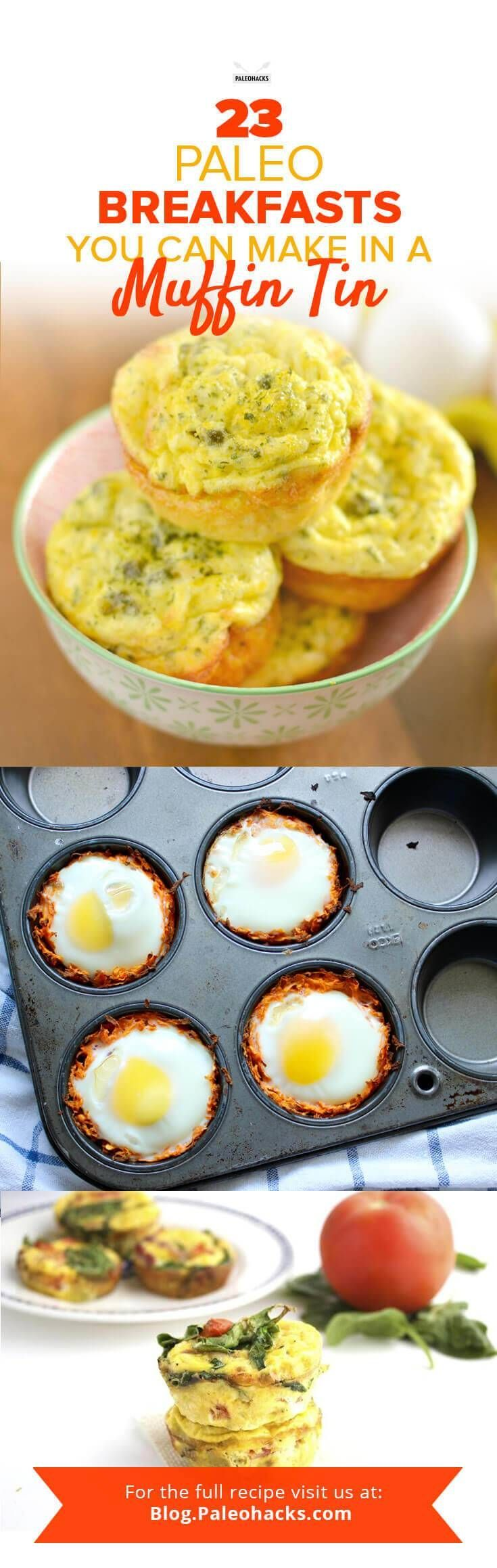 We all love a muffin in the morning—be it banana nut or blueberry—but that muffin tin can have way more to offer beyond the realm of pastries. Get the recipes here: http://paleo.co/muffintinbrekkys