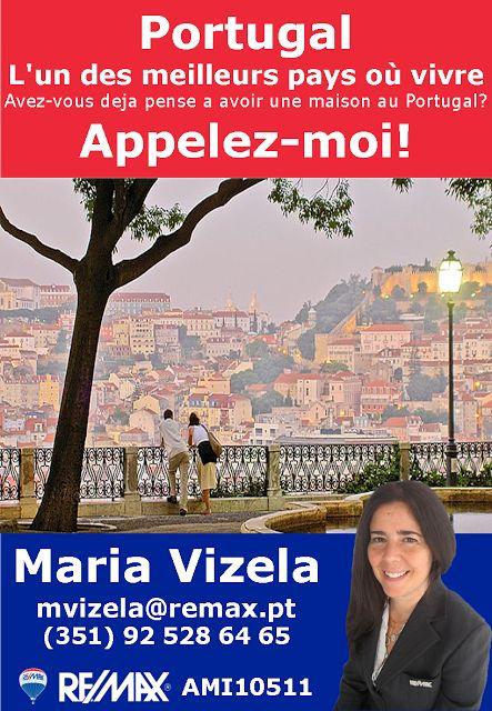 Maria Vizela Remax Lisboa Oeiras Cascais: Portugal - L'un des meillers Pays où vivre!