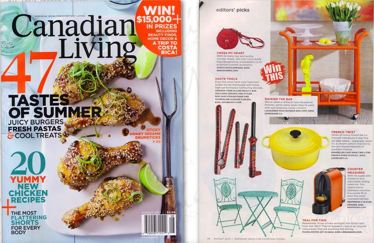 Going wayyyyy back to when Canadian Living featured us! Love this magazine and of course Aria beauty too ;) <3