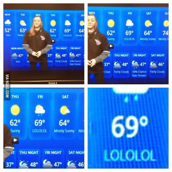 High school's weather broadcast.
