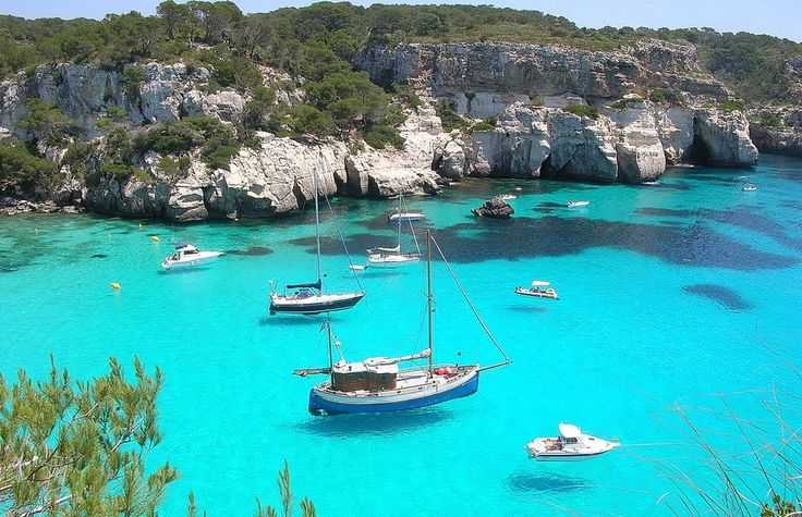 Playa Costa Sur Menorca / Minorca island, Spain. seen a lot of pictures of this place looks beautiful